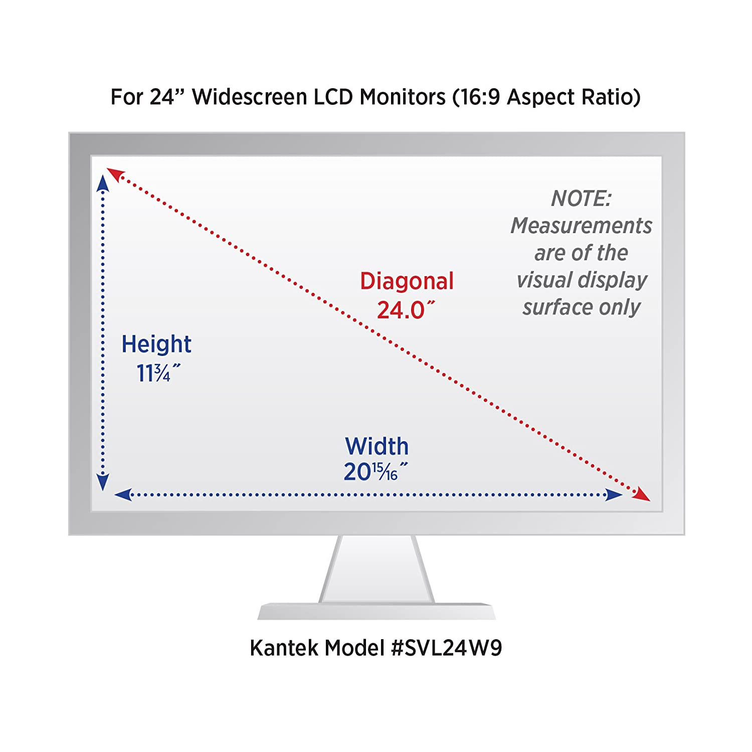 Kantek Secure-View Blackout Privacy Filter for 24-Inch Widescreen Monitors Measured Diagonally /– 16:10 Aspect Ratio Anti-Blue Light SVL24W Anti-Glare