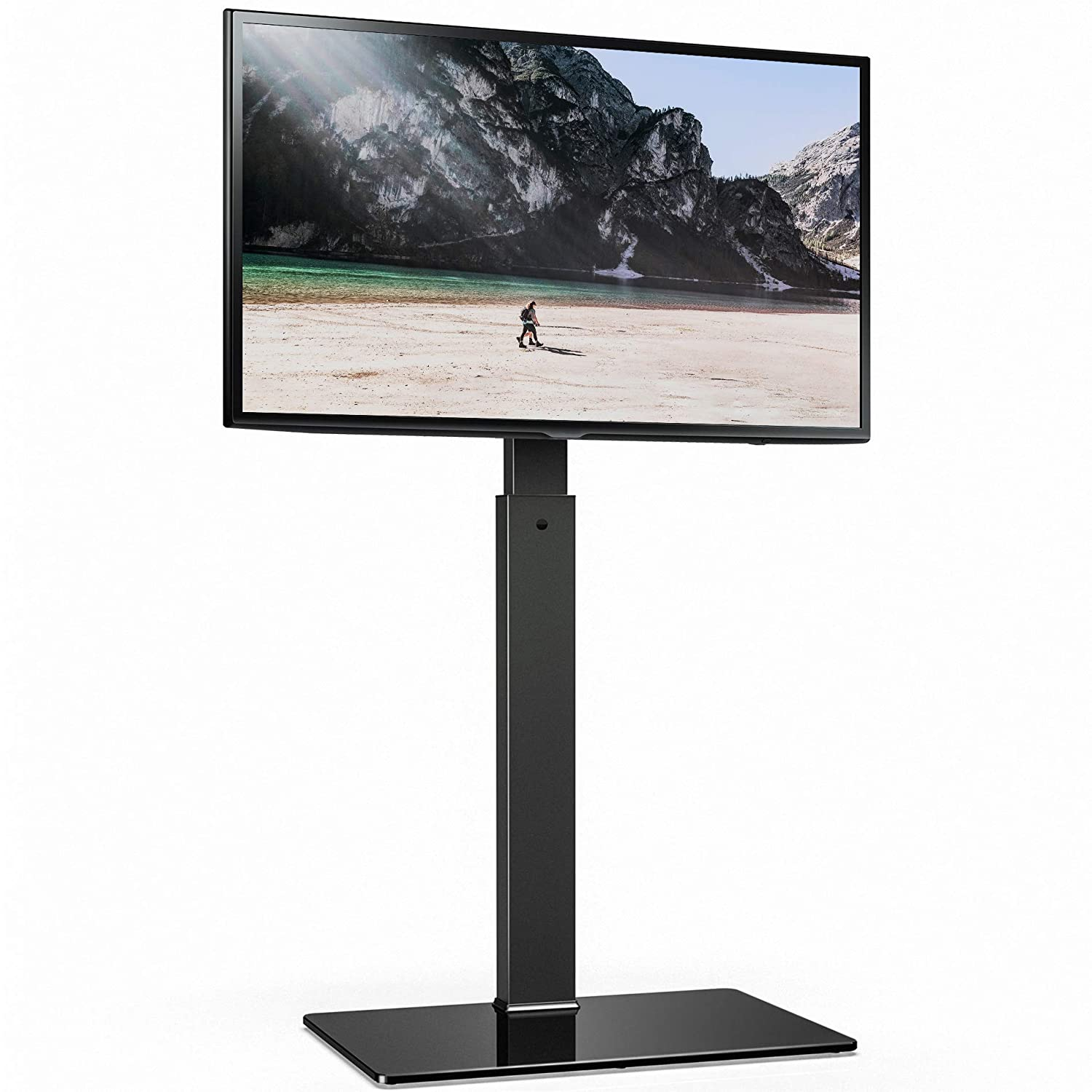 FITUEYES Universal TV Stand Base with Swivel Mount Height Adjustable for 32 to 65 Inch TV, TT107501MB