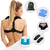 Posture Corrector - Upper Back and Neck Support for Natural Pain Relief for Men and Women. Includes Bonus Self Heating…