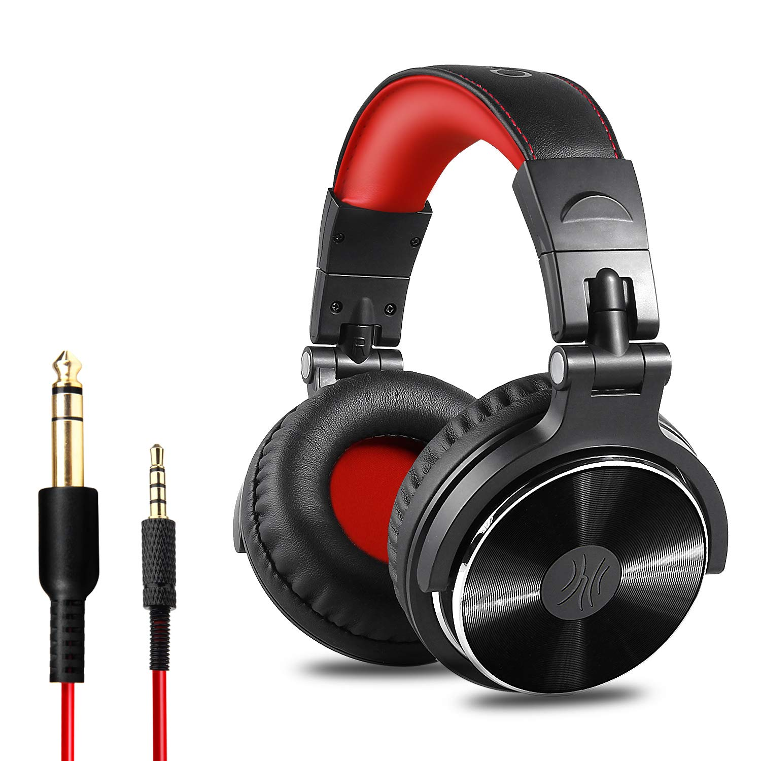 OneOdio Adapter-Free Closed Back Over-Ear DJ Stereo Monitor Headphones, Professional Studio Monitor & Mixing, Telescopic Arms with Scale, Newest 50mm Neodymium Drivers- Glossy Finsh OneOdio USA 709466429447