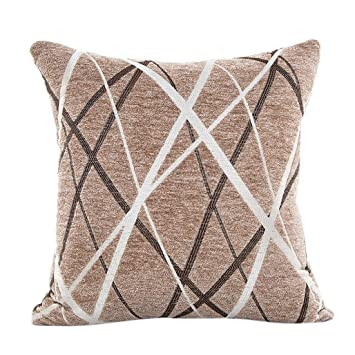 Amazon Chenille Rays Stripe Grade A Removable And Washable Classy Washable Decorative Pillows