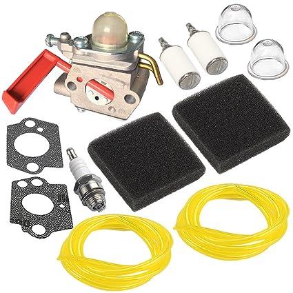 Amazon.com: HIPA c1u-h47 carburador + filtro de aire línea ...