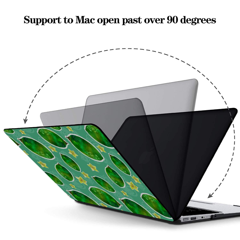13 MacBook Case Rustic Fashion Cute Fruit Carambola Plastic Hard Shell Compatible Mac Air 11 Pro 13 15 MacBook Pro Shell Case Protection for MacBook 2016-2019 Version