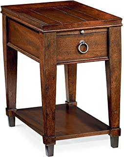Hammary Chair Side Table In Mahogany Finish