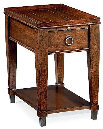 Hammary Chair Side Table in Mahogany Finish