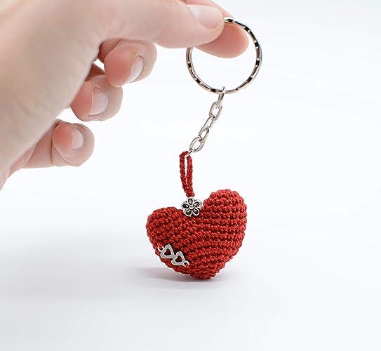 Llavero rojo del corazón de San Valentín, regalo con amor ...