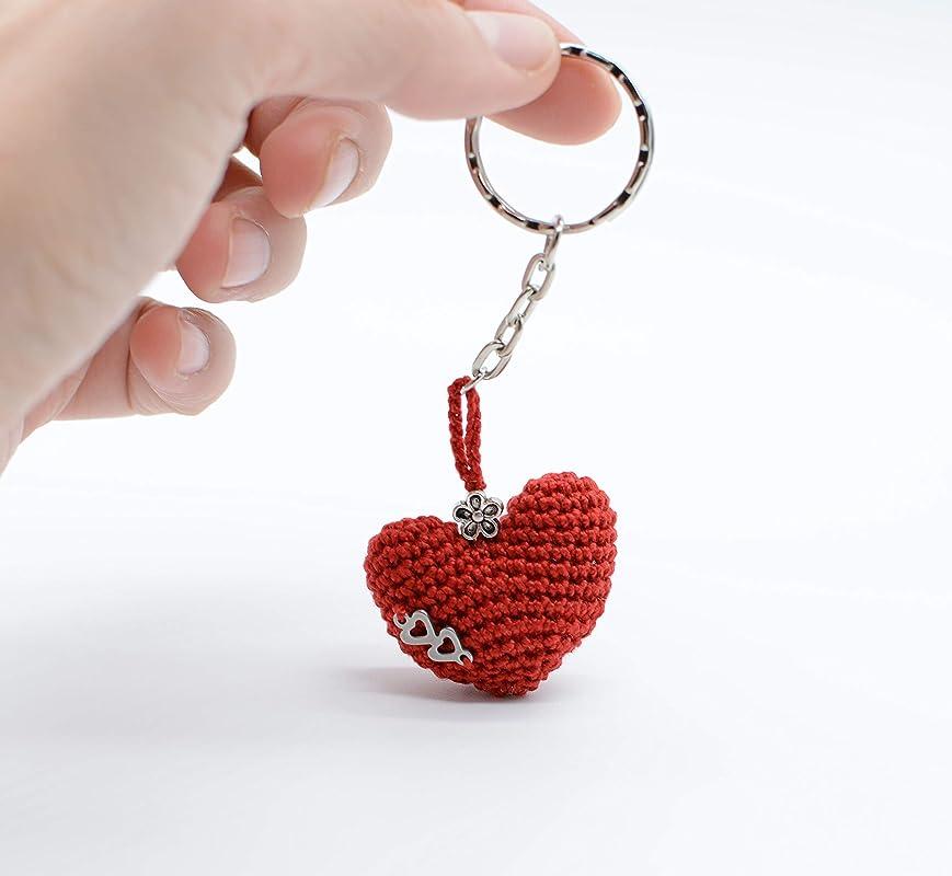 Geschenk mit Liebe Rote Herz Schl/üssel Kette der Valentinsgr/ü/ße