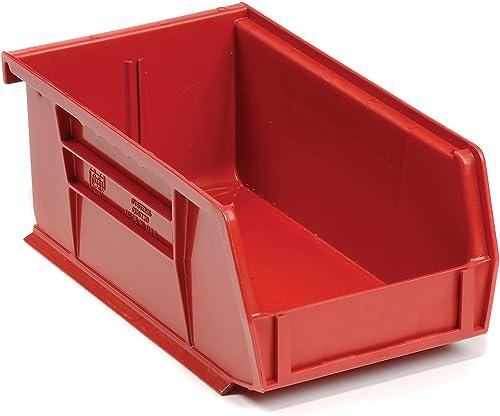 QUANTUM Ultra Poly Bins – 4-1 8×7-3 8×3 – Red – Lot of 24