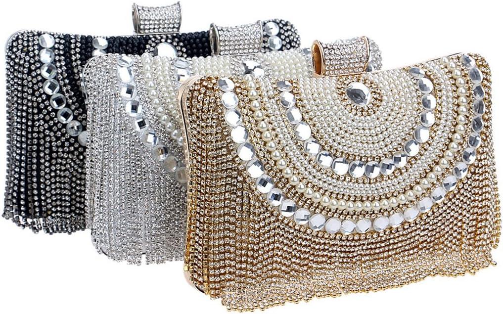 nobrand TEYUN Sacchetto del Vestito Borsa del Diamante delle Donne Banchetto Serale Borsa (Color : Red) Gold