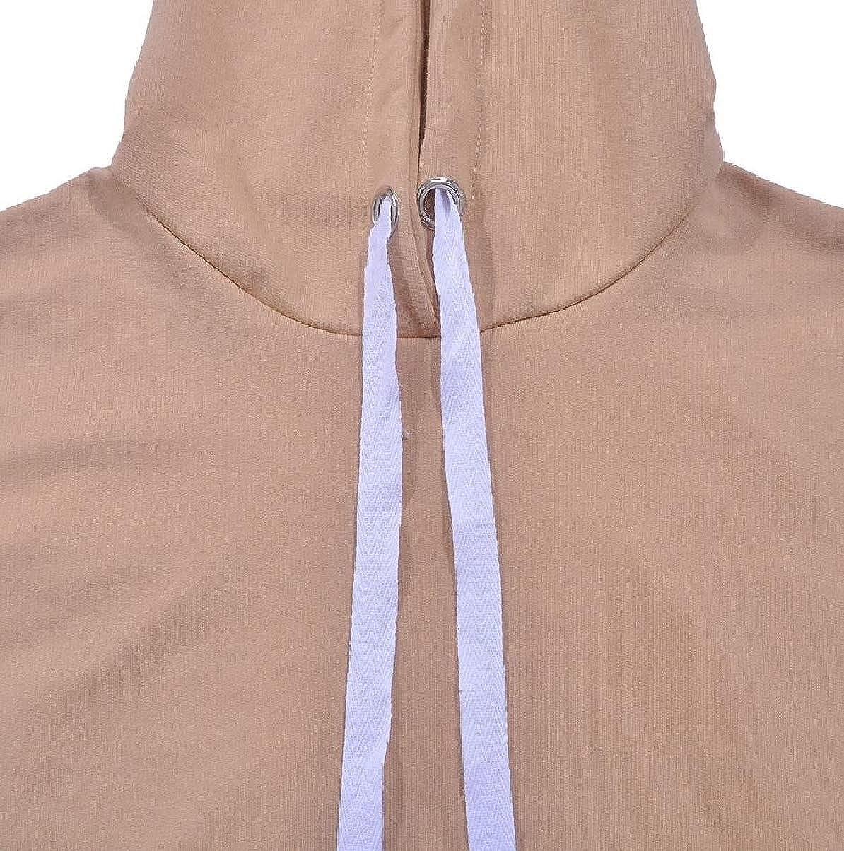 ZXFHZS Womens Loose Hoodies Long Side Slit Casual Pullover Sweatshirts