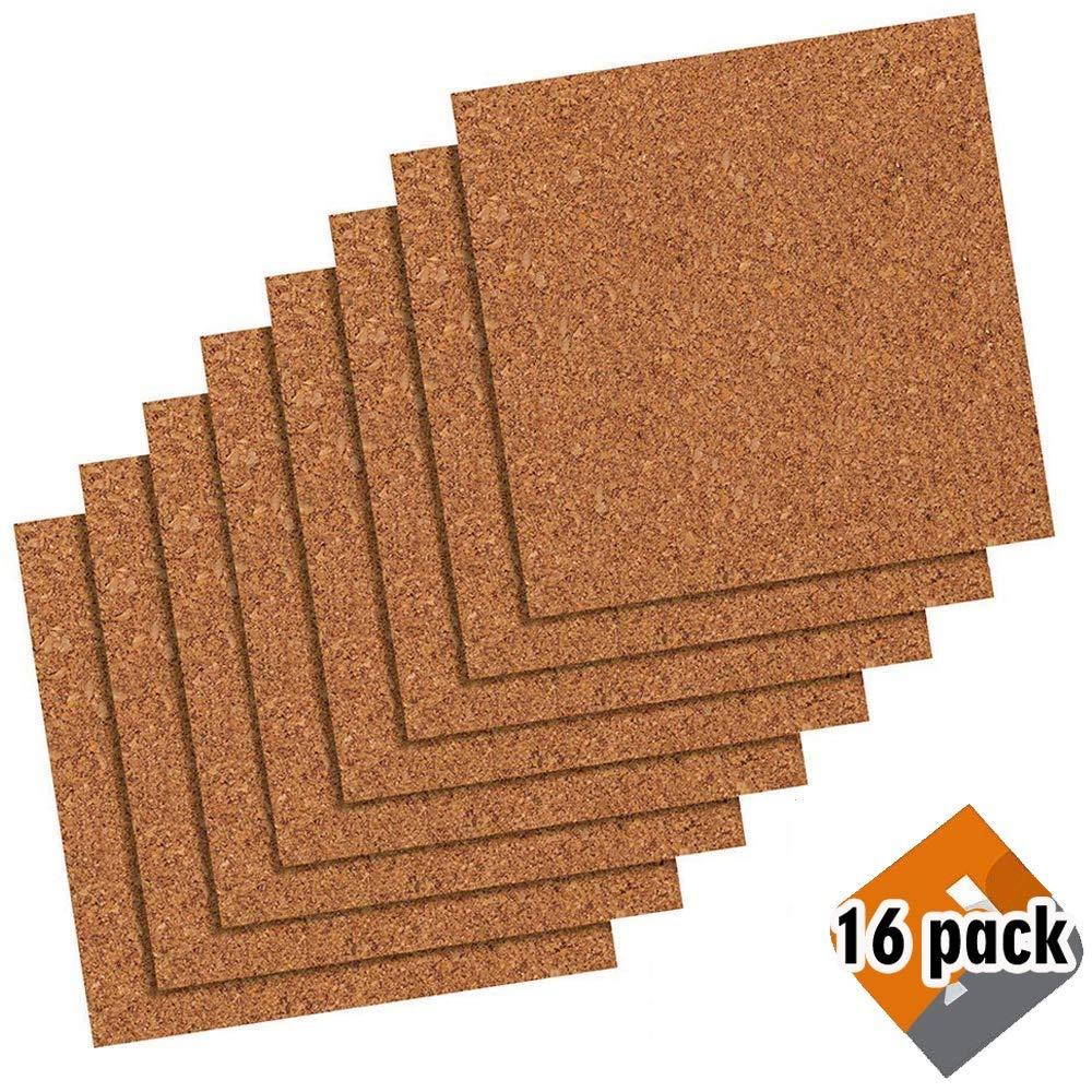 Quartet Cork Tiles, Cork Board, 12' x 12', Corkboard, Wall Bulletin Boards, Natural, 8 Pack (108)