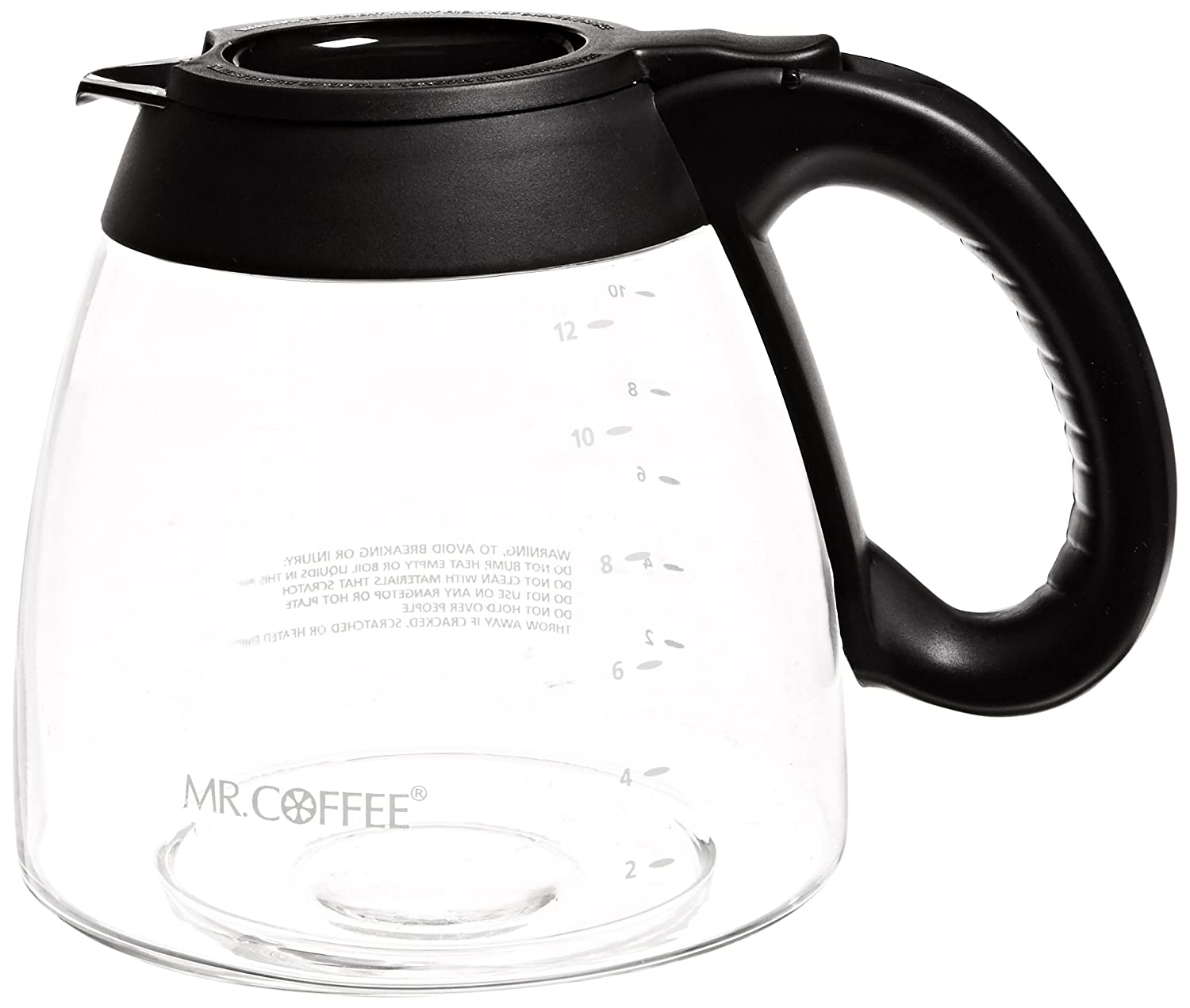 Mr. Coffee Not Available IDS13-RB ISD13-RB 12-Cup Replacement Decanter for FT and is Series, Black