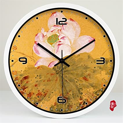 FortuneVin Reloj de Pared de Cuarzo Reloj de Reloj de cuarzo de pared silencioso decorativo para
