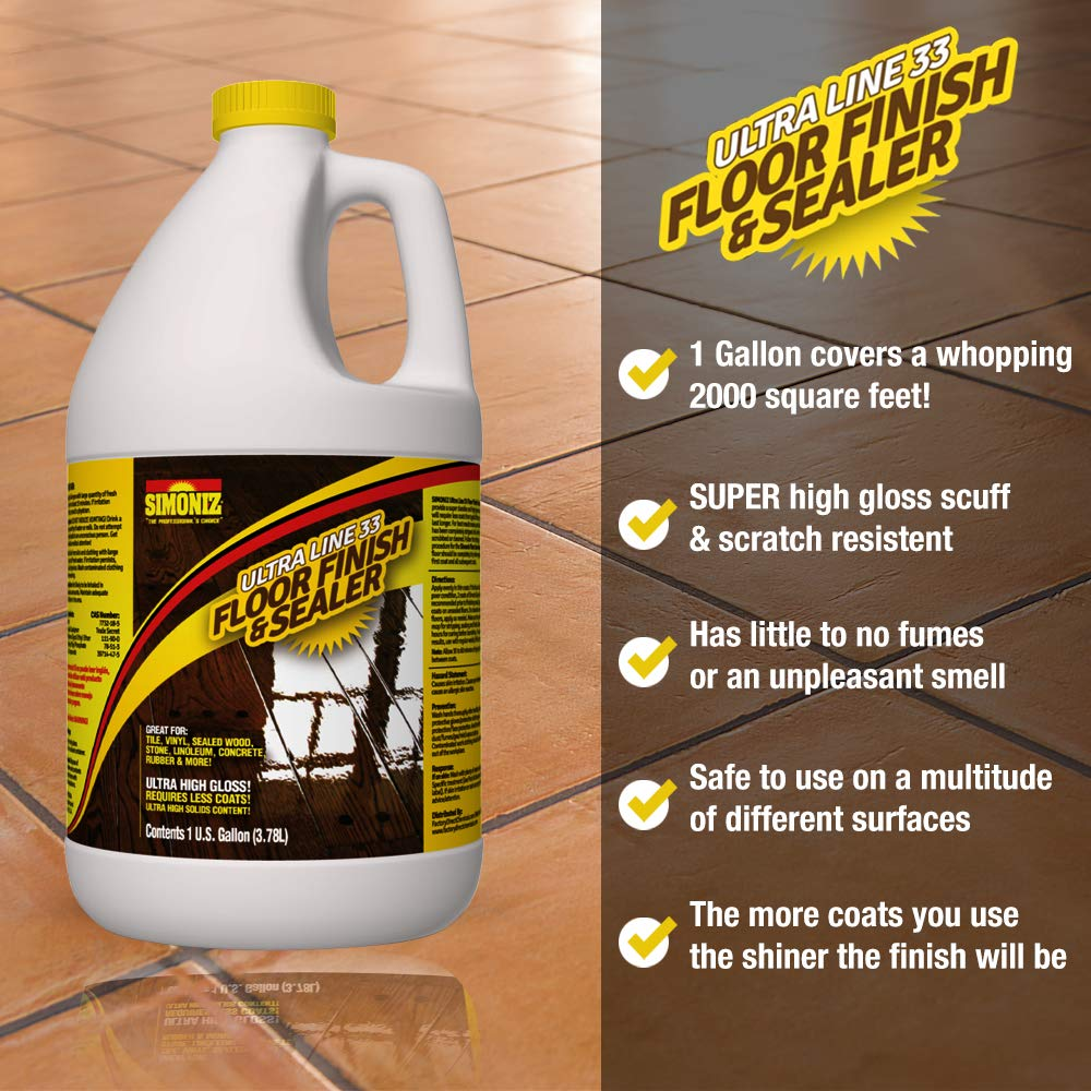 Ultra HIGH Gloss 33% Solids Floor Finish Wax - 4 Gallon Case (More Durable, Less Coats, Less Labor) by Green Gobbler (Image #3)