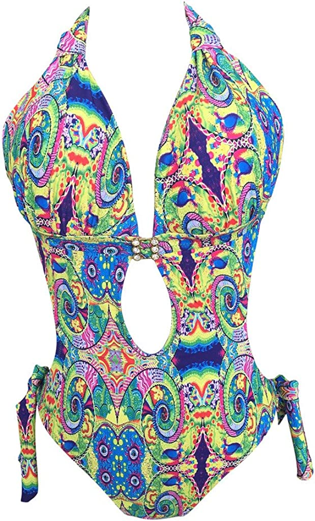 LE BESI Womens Fashion One Piece Elegant Inspired Monokini Swimsuit