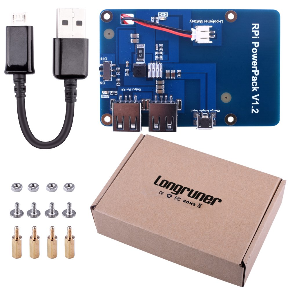 kuman Lithium Battery Pack Expansion Board Power Supply Switch + Micro USB Cable Raspberry Pi 3 Model B, Pi 2 Model B & Pi 1 Model B+ A+ A KY68 by kuman (Image #7)