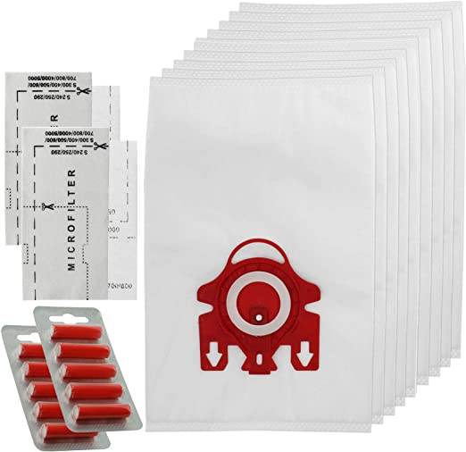 SPARES2GO 3D tipo FJM Hyclean bolsas para aspiradoras Miele Complete C1 C2 aspiradora compacta (10 bolsas + Micro + filtros de aire ambientadores): Amazon.es: Hogar