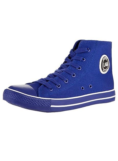 oodji Ultra Uomo Sneakers Alte di Tela, Nero, 41 EU/7.5 UK