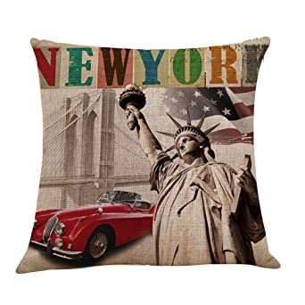 Amazon.com: Fxbar New York Estatua de la Libertad Estampado ...