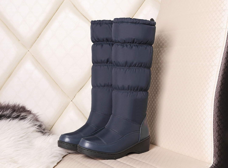 HOESCZS Stiefel Martin Winter Damenschuhe Rutschfeste Warme Stiefel Weiße Baumwolle Schuhe Plus Baumwolle Dicke Baumwolle Stiefel Dicke Untere Schwamm Kuchen Rohr Schnee Stiefel Frauen Stiefel
