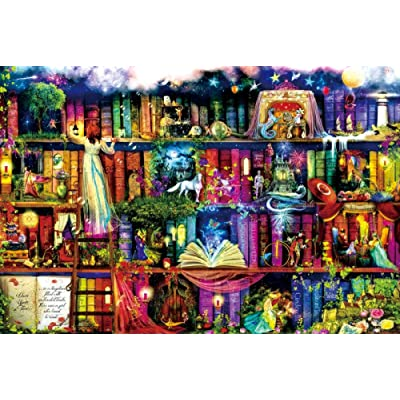 Puzzll 1000 Pieces Puzzles for Adults Wooden Jigsaw Puzzles Adult Kids Educational Puzzle Toys Birthday Gift Fantasy Fairy Tale: Toys & Games