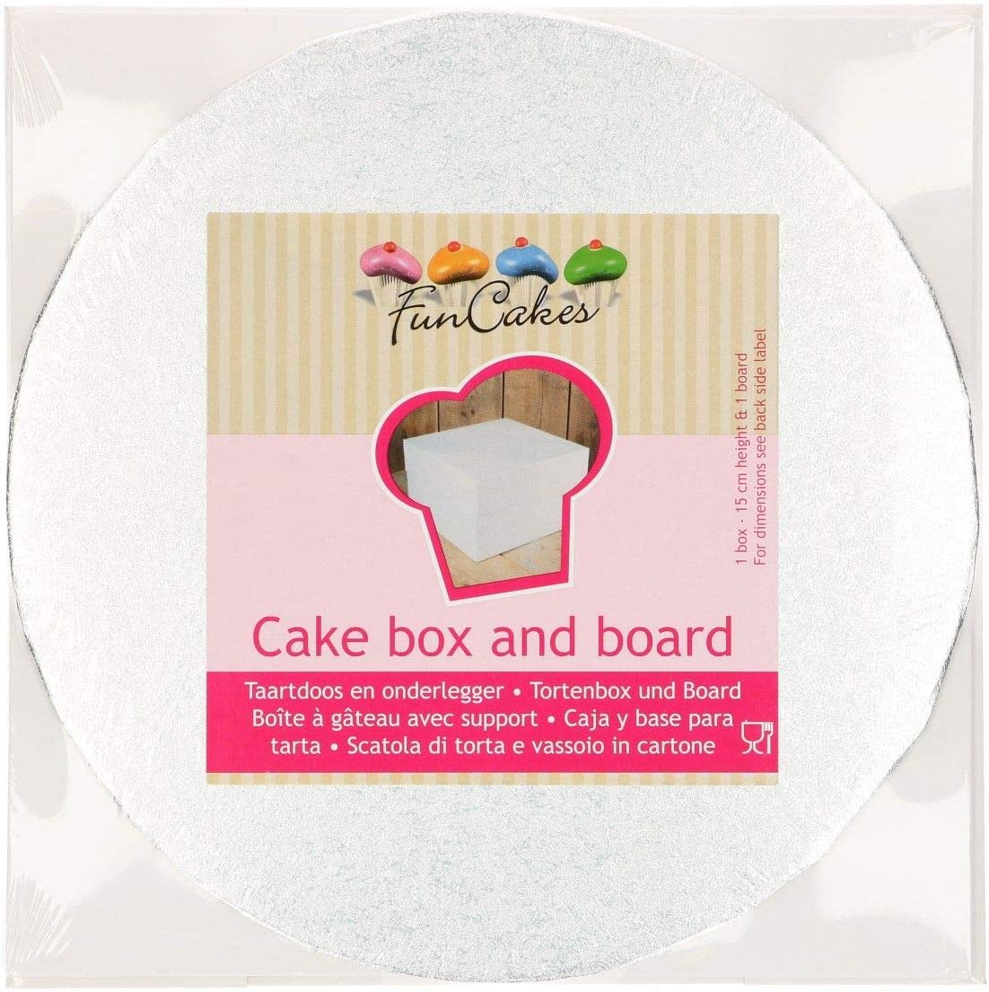 FunCakes Tartas Box – Caja para Tarta – Cake Box en Color Blanco ...