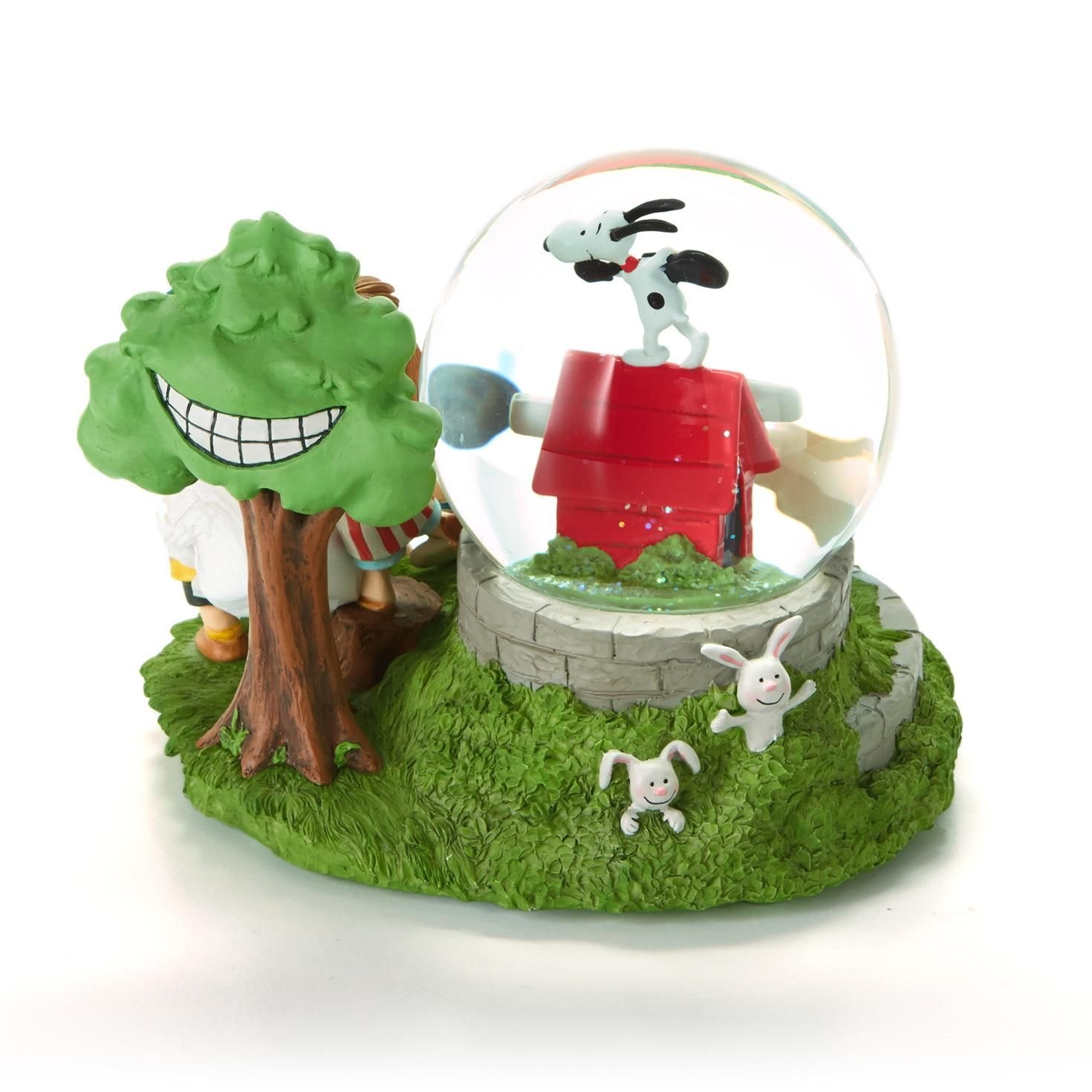 Charlie Brown Snow Globe by Hallmark Snoopy and Gang Musical Limited Edition Peanuts Gallery – Happiness is Contagious