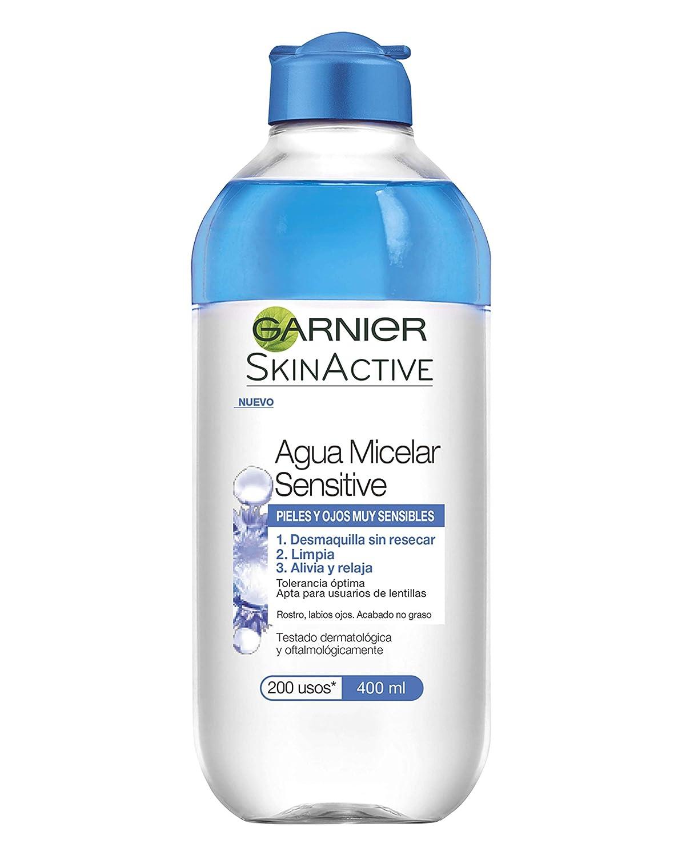 Pack de 6 unidades de agua micelar Garnier para pieles sensibles.