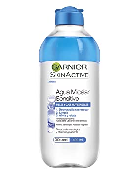 Garnier Skin Active Agua Micelar Sensitive para Pieles y Ojos Muy Sensibles - 400 ml: Amazon.es: Amazon Pantry