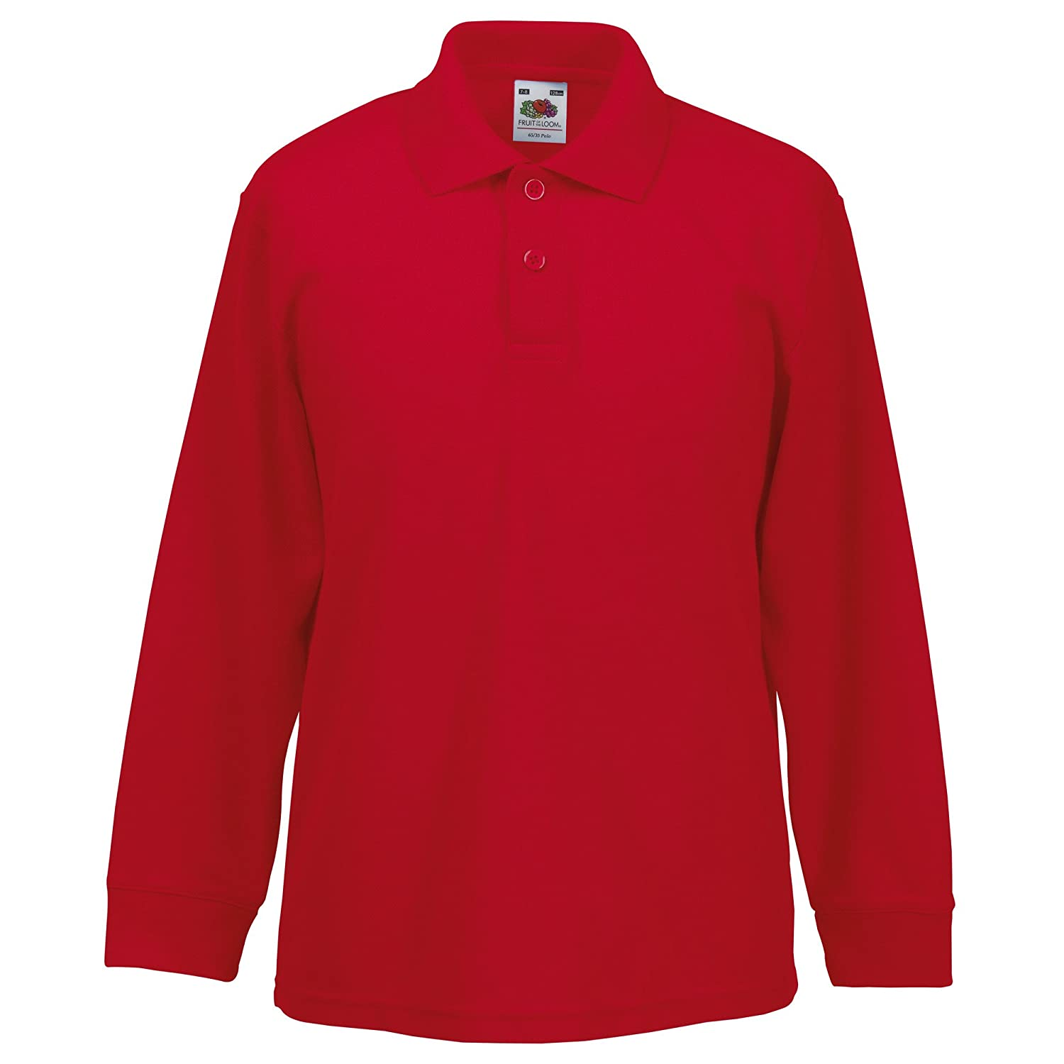 a3281783 Fruit of the Loom Childrens Big Boys Long Sleeve Polo Shirts: Amazon.ca:  Clothing & Accessories