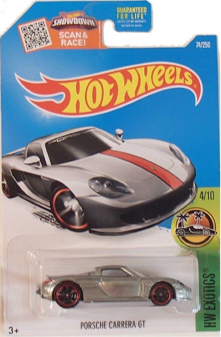 Hot Wheels, 2016 HW Exotics, Porsche Carrera GT Exclusive ZAMAC 74/250 by Hot Wheels