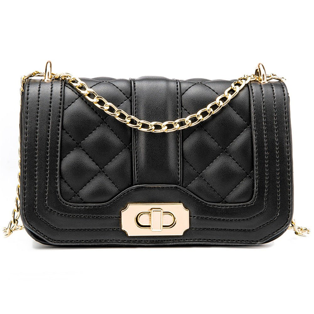 Summer Chain Small Bag And Single Shoulder Bag,Black,210X125X75Mm