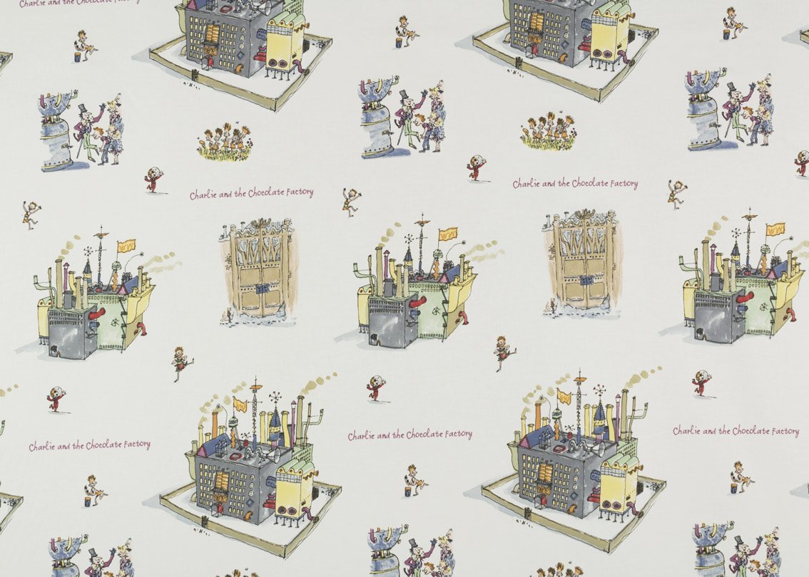 Roald Dahl Charlie And The Chocolate Factory Fabric Sold By The ...
