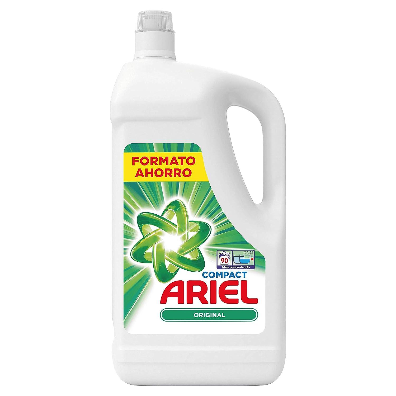 Ariel Original Detergente Líquido 4.95 l, 90 Lavados, Elimina las ...