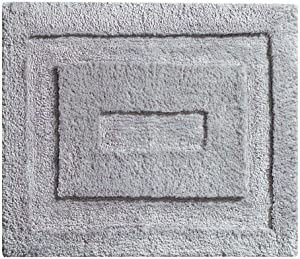"""iDesign Spa Small Microfiber Accent Shower Rug, Bath Mat for Master, Guest, Kids' Bathroom, Entryway, 21"""" x 17"""" - Gray"""