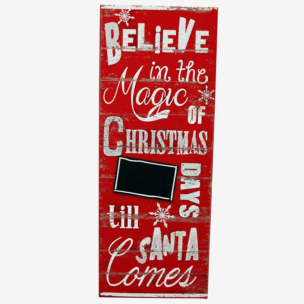 amazoncom burton burton countdown to xmas chalkboard glitter sign wooden christmas holiday decorative accessory - Christmas Countdown Sign