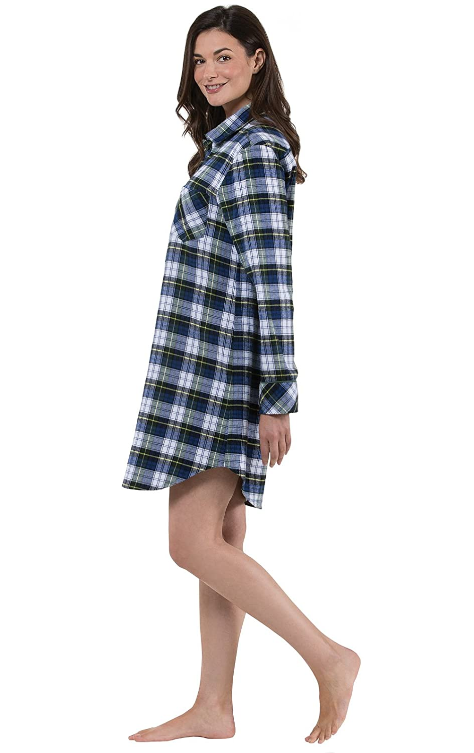 PajamaGram Women s Tartan Plaid Flannel Nightgown 6d8441fef
