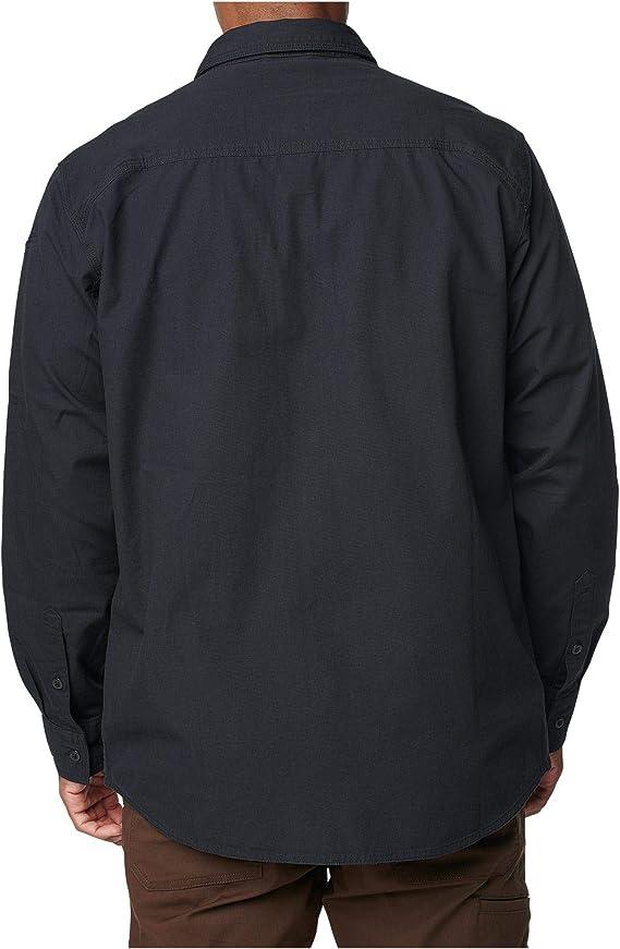 72466 S 5.11 Tactical Mens Expedition Long Sleeve Shirt Stone Wash Black Ash