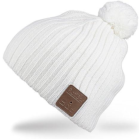 Rotibox Cappello con cuffia bluetooth integrata senza fili - Bianco ... d128e1231269