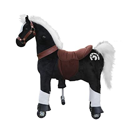 Medallion - My Pony Ride On Real Walking Horse for Children 3 to 6 Years Old or Up to 65 Pounds (Color Small Black Knight) for Boys and Girls: Toys & Games