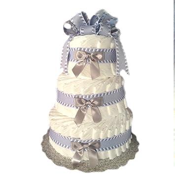 Amazon.com: Clásico Pastel bebé ducha Pastel de pañales (3 ...