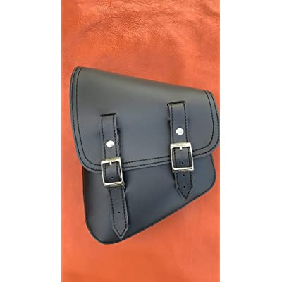 La Rosa Design Harley-Davidson All Softail & Rigid frames Left Side Solo Saddle Bag Swingarm Bag Black Plain: Automotive