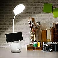 URAQT Lámpara de Escritorio LED, 3 Niveles de Brillo Lámpara de Protección Ocular, Flexo LED para Leer con Portalápices…