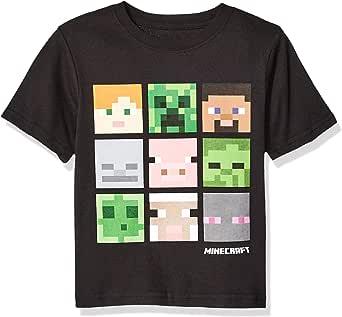 Marvel Boys Boys Minecraft Box Figure T-Shirt Short Sleeve T-Shirt