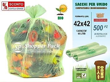 /cm 50/x 60/ f/ür M/ülltrennung umidi- /N /° 500/Taschen /Beutel f/ür feuchten kompostierbar 30/Liter/ 20/Rollen x 25 ANGEBOT-20/% Dose 500/St/ück/ kompostierbar