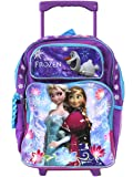Full Size Purple and Blue Sisters Stick Together Disney Frozen Rolling Backpack