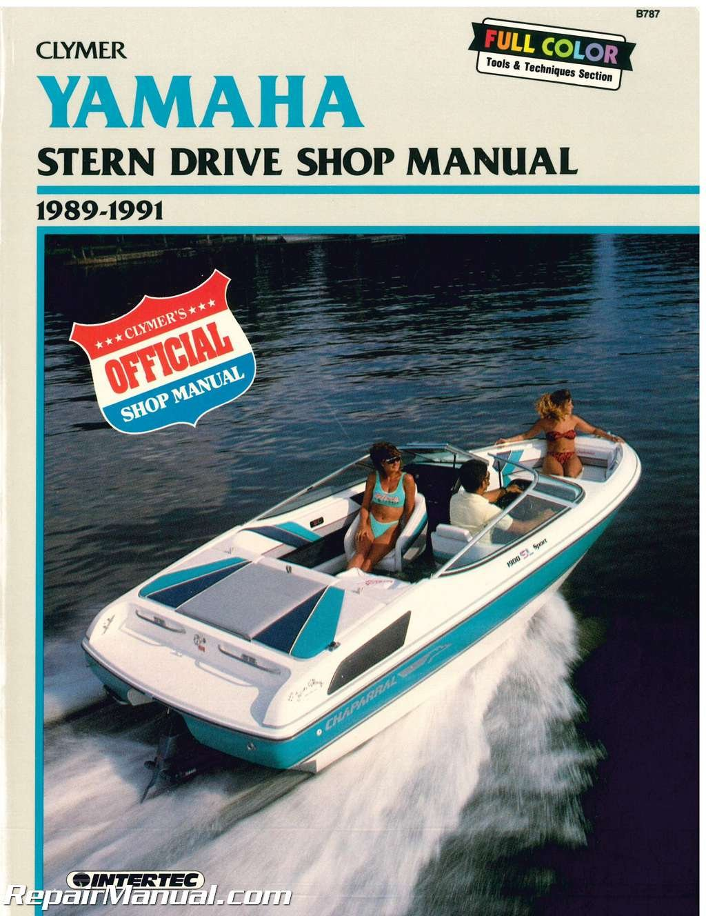 B787 Yamaha Stern Drive 1989 1990 1991 Clymer Boat Engine Repair Waverunner Wiring Diagram Manual Manufacturer Books