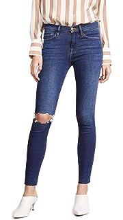 bc9f2827afa89 FRAME Women s Ali High Rise Coated Cigarette Jeans at Amazon Women s ...