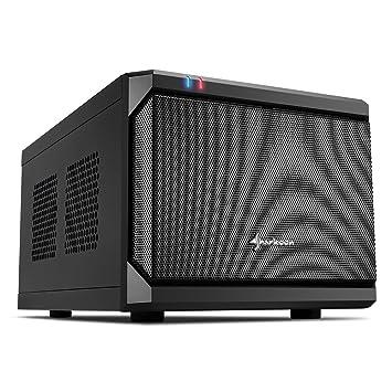 Sharkoon QB ONE - Caja de Ordenador, PC Gaming, MINI-ITX, Negro