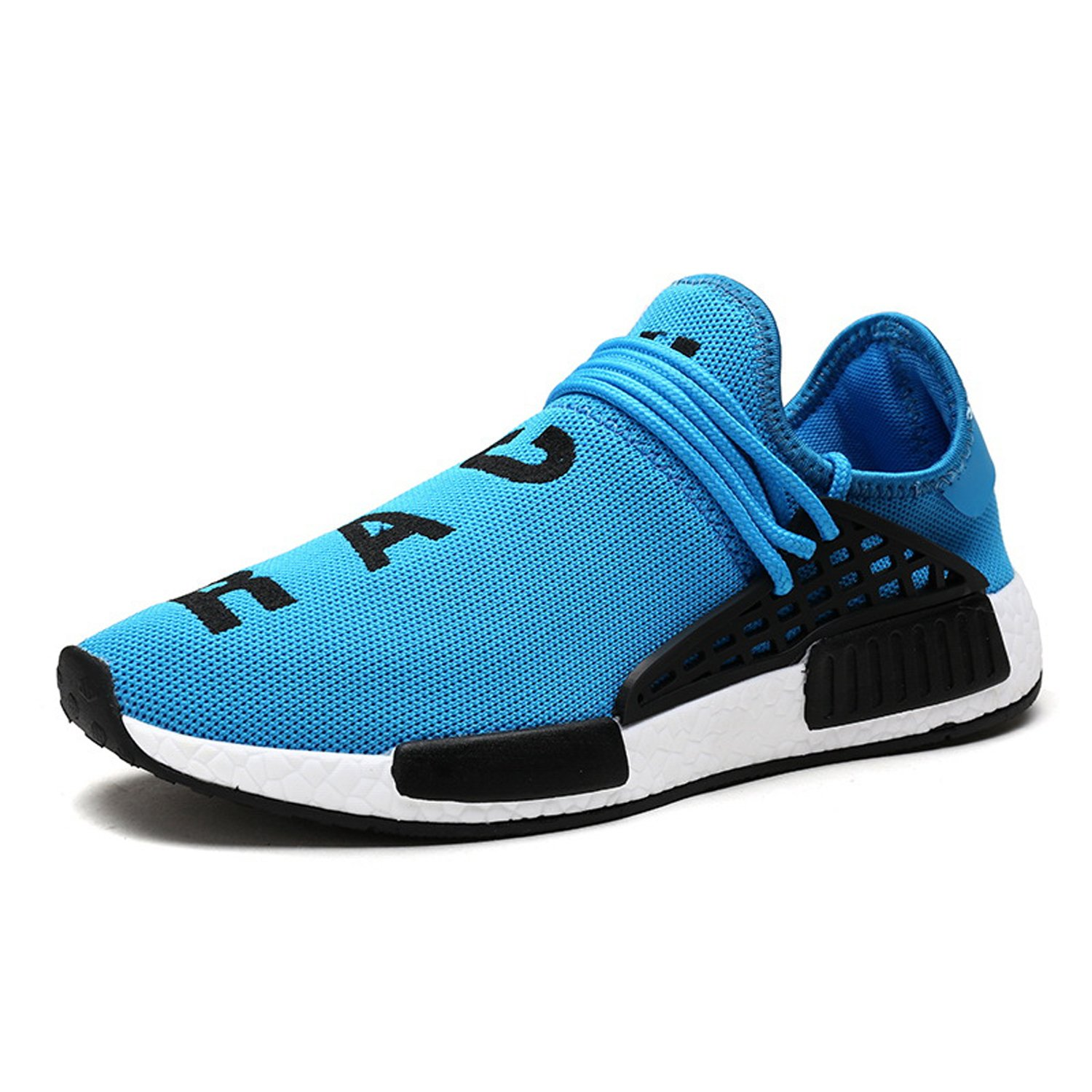 AI Aleng Mens Womens Unisex Lightweight Fashion Sneakers Breathable Lace-up Athletic Sports Shoes Human Race Casual Running Shoes Women 6.5 D(M) US/ Men 5 D(M) US|Blue